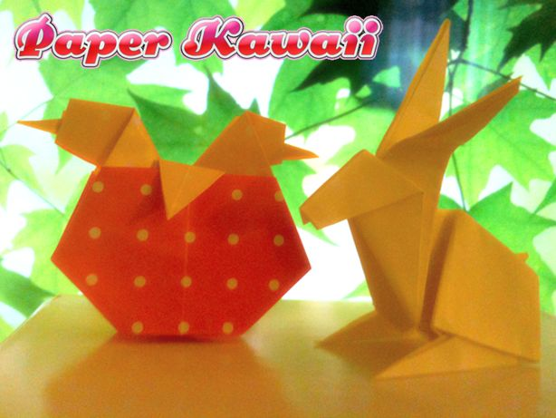 Easy Origami Easter Bunny Choice Image Instructions