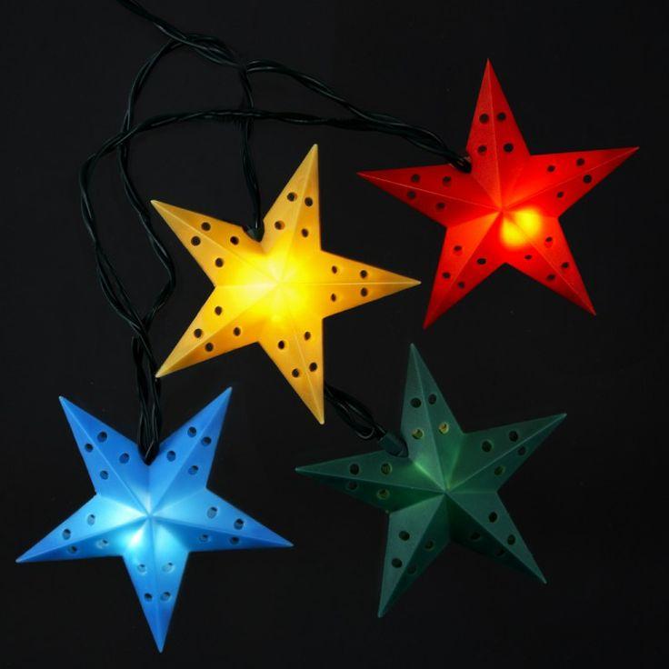 Colorful star Christmas Lights