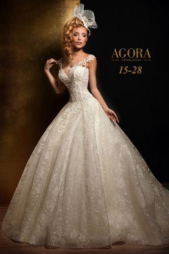 Sehr elegantes ausgefallenes Brautkleid von Agora