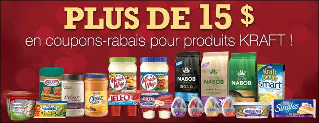 Les Coupons Rabais: 15$ en coupons Kraft!!!