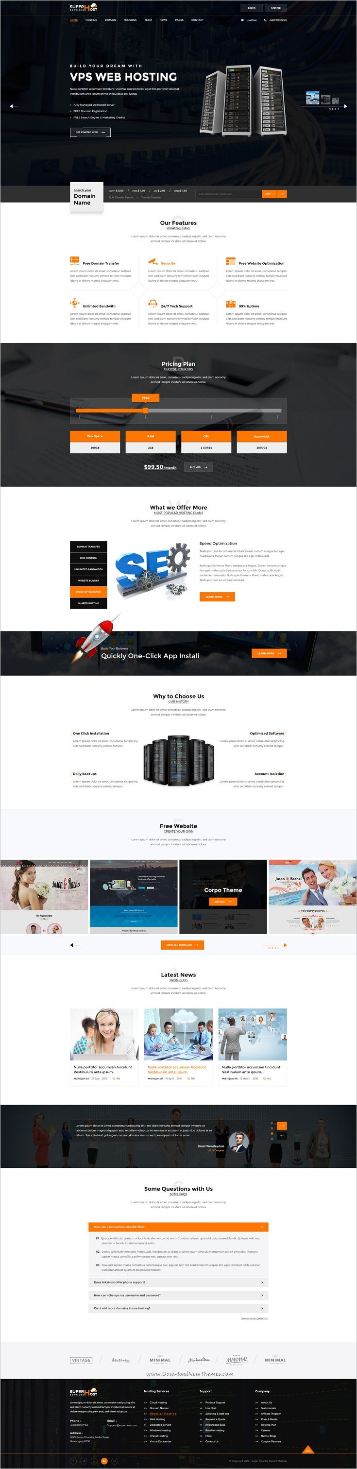 wedding invitation template themeforest%0A Super Host  Premium Web Hosting PSD Template