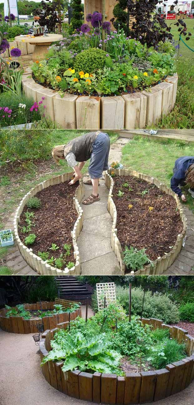 Top 19 Cool Ideas to Create a Round Garden Bed with Recycled Things – Kristin Fuhrmann