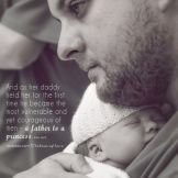 Love Alda - Cape Town Birth Photographer True Statements Dad Father holding baby girl princess for the first time hero www.lovealda.com