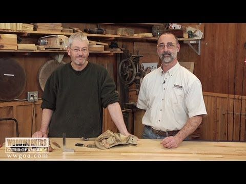George Vondriska and Dave Munkittrick discuss Dave's favorite way to organize his woodworking tools while in the shop. He likes to use a carpenter's belt to keep all of the essentials in order, like his measuring tape, utility knife and ear protection.