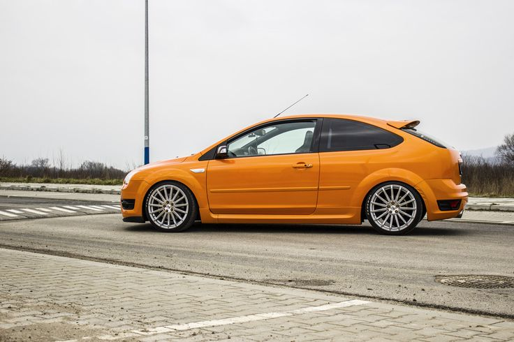 electric orange ford focus st mk2 from poland ford focus st tuning ford focus performance. Black Bedroom Furniture Sets. Home Design Ideas