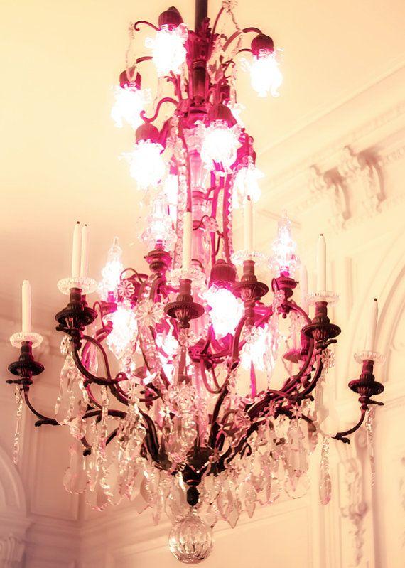 ROSE CLIFF Mansion PINK chandelier Photography Newport Rhode Island Nursery wall art pink chandelier princess wall decor for a girls room