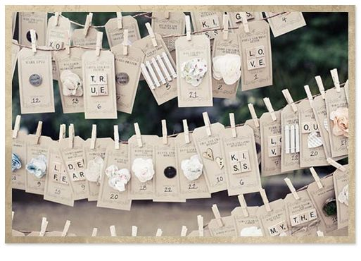 Wedding Seating Plan | Junk Shop Bride - Part 2