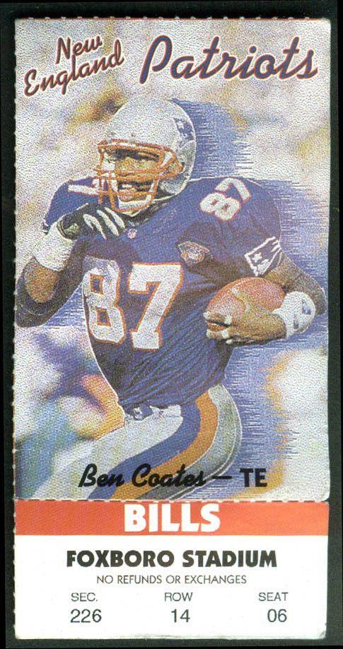 New England #Patriots Buffalo Bills Ticket Stub Ben Coates 1995 Mcdonalds Coupon from $13.59