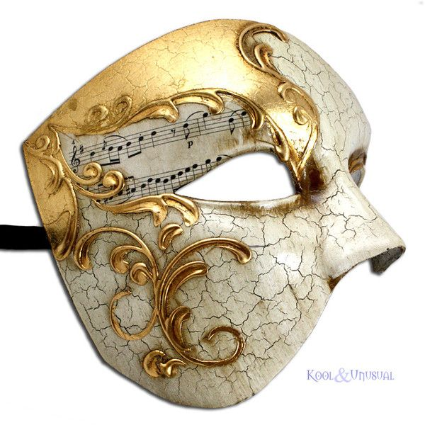 Phantom of the Opera VENETIAN Masquerade Mask GILDED MELODY Made in... ❤ liked on Polyvore