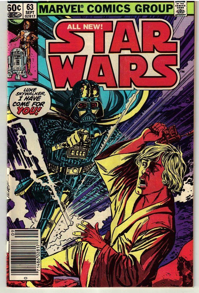 September 1982 Star Wars #63 Marvel Comic Book - Rare & Hard to Find - Vintage