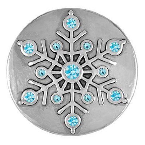 Ginger Snaps GLITZY SNOWFLAKE SNAP SN19-01 Interchangeable Jewelry Snap Accessory