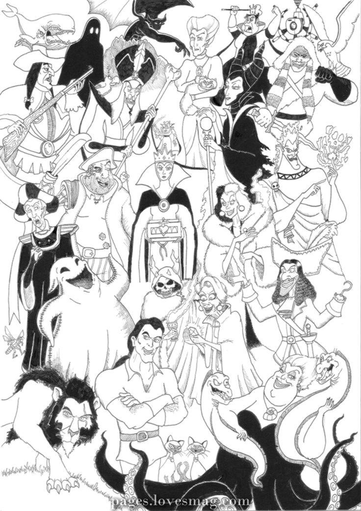 Drawings Coloring Disney Villains Disney Coloring Pages Disney Adult Coloring Books Coloring Books