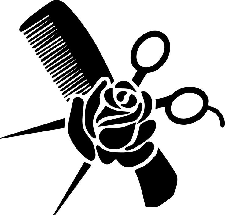 Hair Stylist Vinyl Decal Measures Approximately 7 X 6 75
