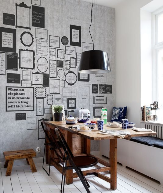 Express Myself Wall Panel Quotations wall panel in Concrete effect with black type, Can be ordered in varying sizes, and with personalised quotes (Customisation fees apply) please contact Fabrics and Papers for further information.