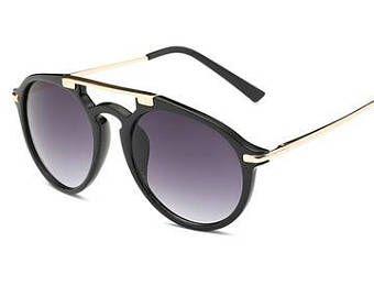 Camo & Brass Frame Sunglasses