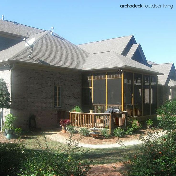 107 best images about screened porch ideas from archadeck for Screen porch roof options