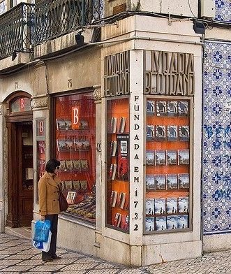 Bertrand Bookstore in Lisbon, Portugal is the world's oldest bookstore. It opened in 1732 in another location before the earthquake of 1755 destroyed almost all of Lisbon. Seismologists today estimate the magnitude of the quake between 8.5 and 9. The bookstore was moved to its present day location in 1773.