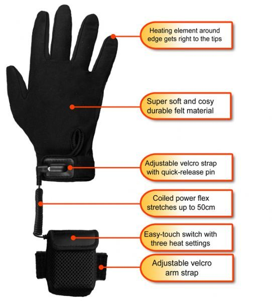 Warmawear™ Deluxe Heated Glove Liners £29.99