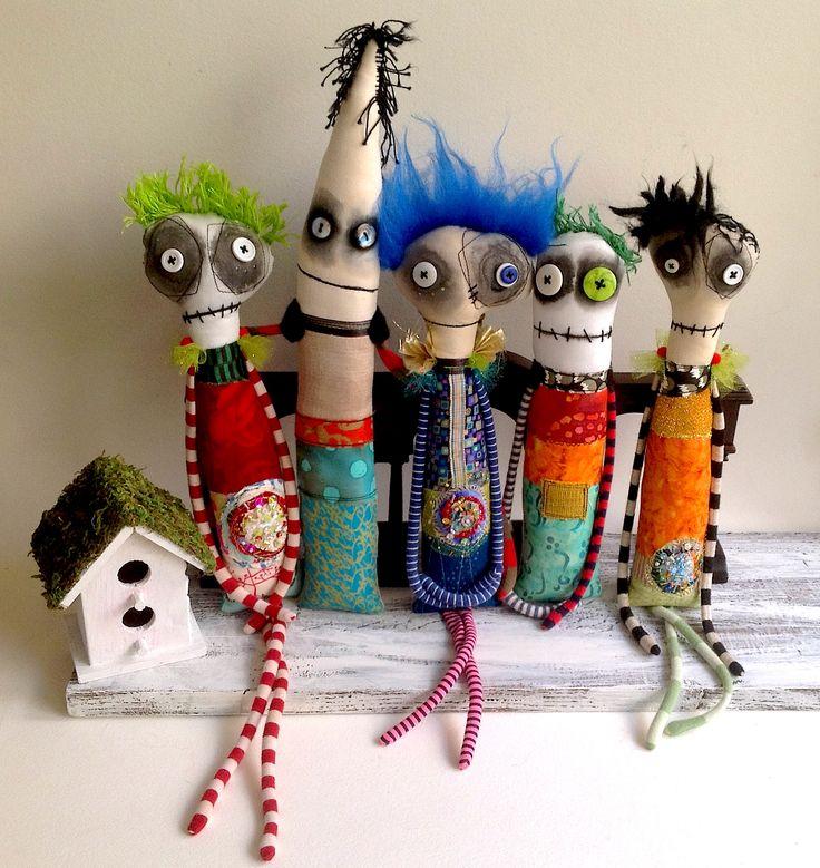Ooak handmade art dolls & monster dolls Little miscreants and goofy goons…