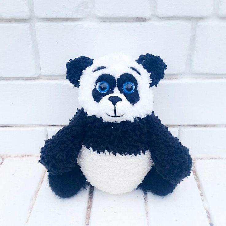 #Crochettiky #crocheted #panda #amigurumi #plushies
