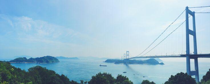 affection:  しまなみ海道  最近、たまに iPhone のパノラマで撮るんだけど、今更ながらスゴイね、これ。