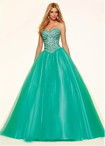 Fantastic Tulle Sweetheart Neckline Ball Gown Quinceanera Dresses With Beadings