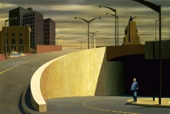 An urban landscape by the late Jeffrey Smart