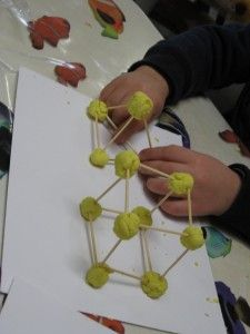 Great to build shapes!! Playdough and toothpicks... can make all kinds of things!