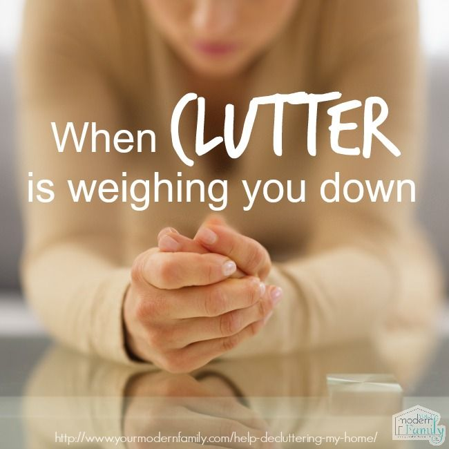 When clutter is weighing you down ... decluttering the home