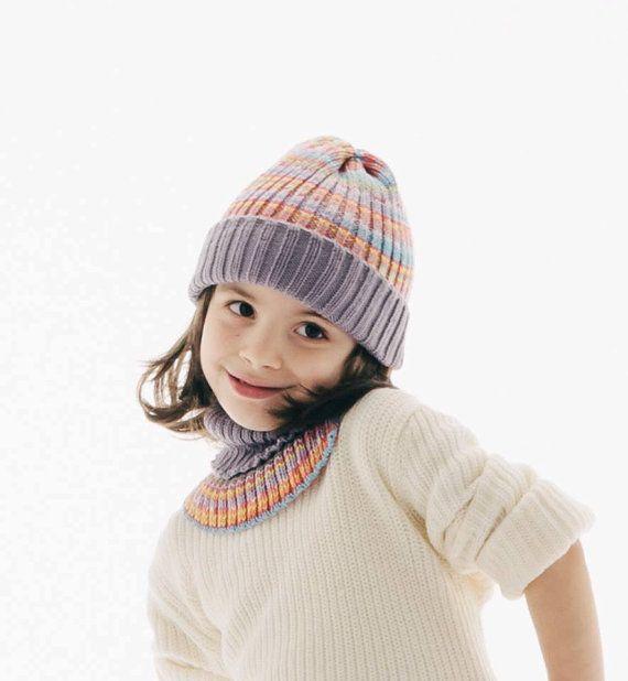 Colorful Kid's Hat Merino wool Kid's Beanie soft by TheKnitPanda #forchildren #giftideas