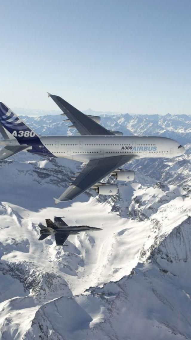Airbus A380, Aircraft / military escort / hope no terrorism issue involved / no commercial jet passenger wants to get such an escort !!