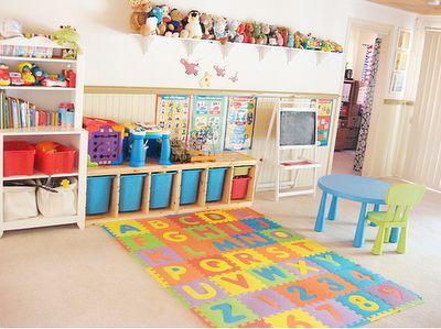 playroom - so organized. I love it.