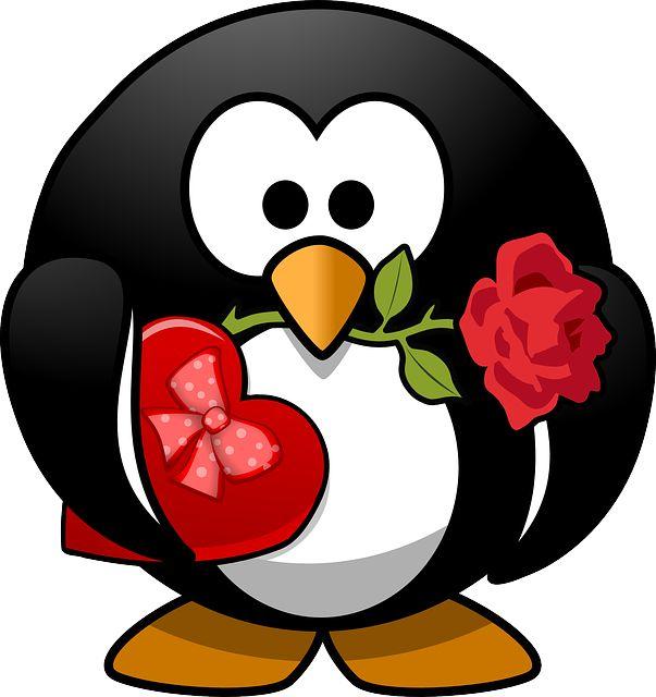 Pingüino enamorao