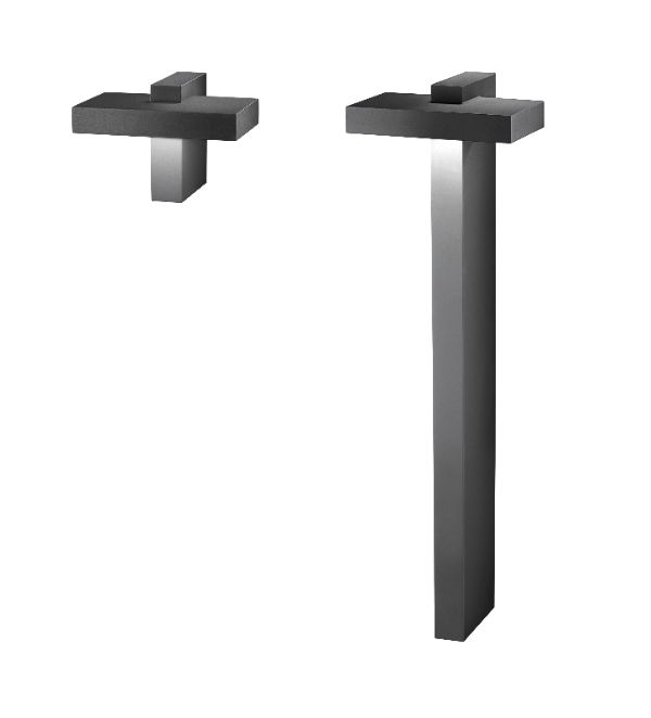 Architectural designed wall fittingand illuminating bollards from HESS: Genua