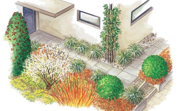 Mit dieser Pflanzidee bereitet der Vorgarten Ihren Gästen auch in der vermeintlich tristen Jahreszeit einen freundlichen Empfang.