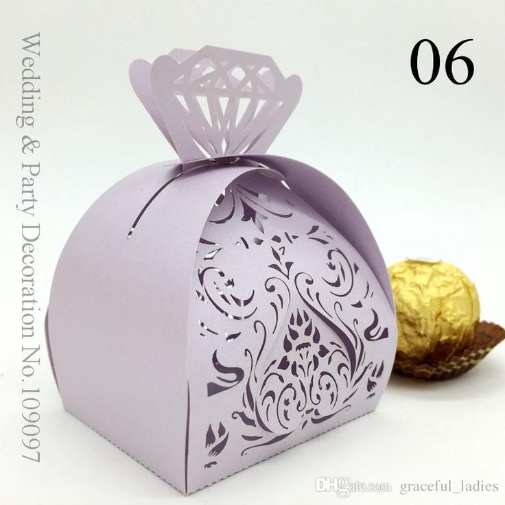 Lavender Hollow Out Wedding Favor Holders Whole Candy Bo Gift Bridal Shower Favors Laser Cut Favour