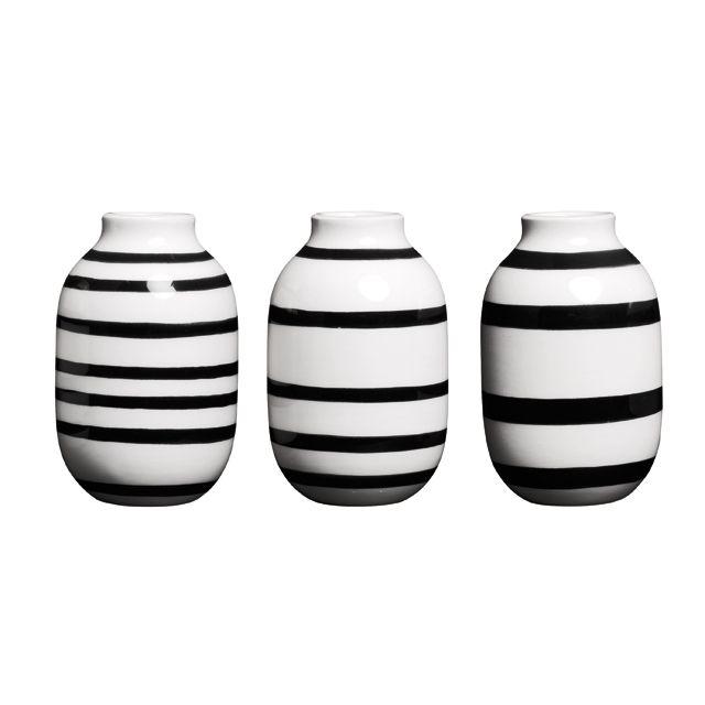 Omaggio Minature Vaser 3-pak Sort