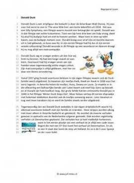 Begrijpend lezen - Donald duck