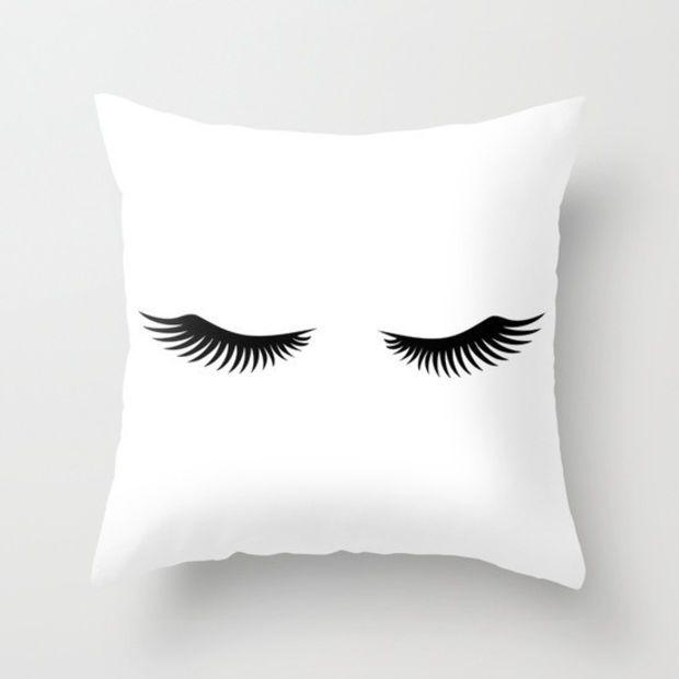Shut Eye Throw Pillow With Insert