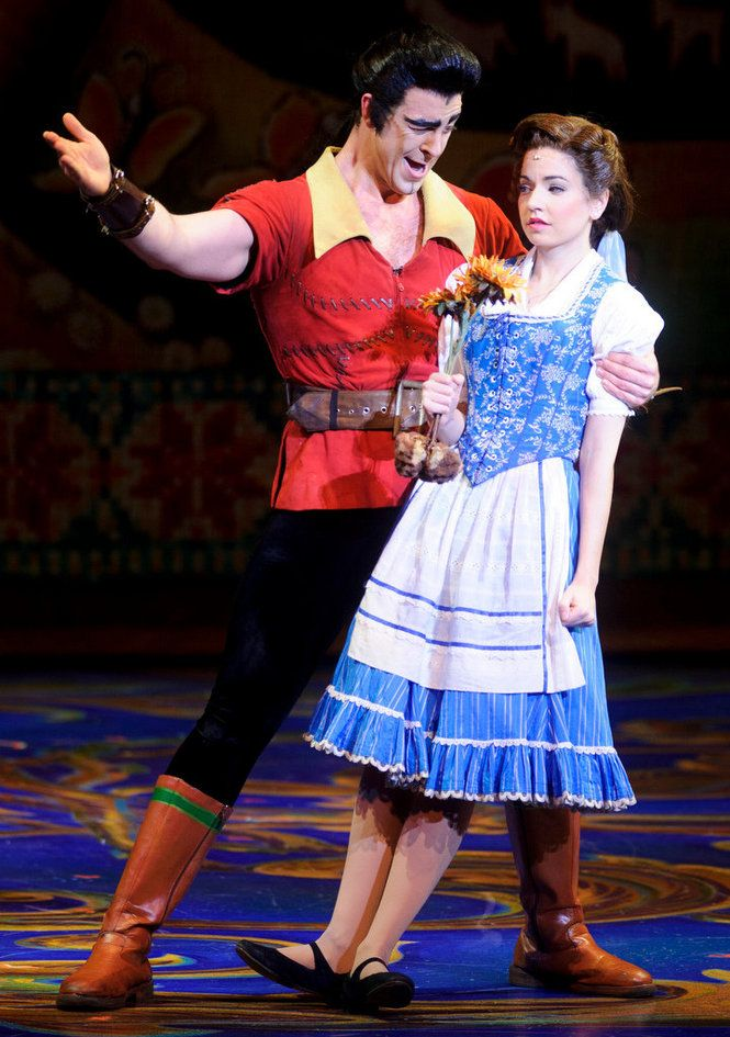 Hilary Maiberger as Belle and Joe Hager as Gaston - Tour