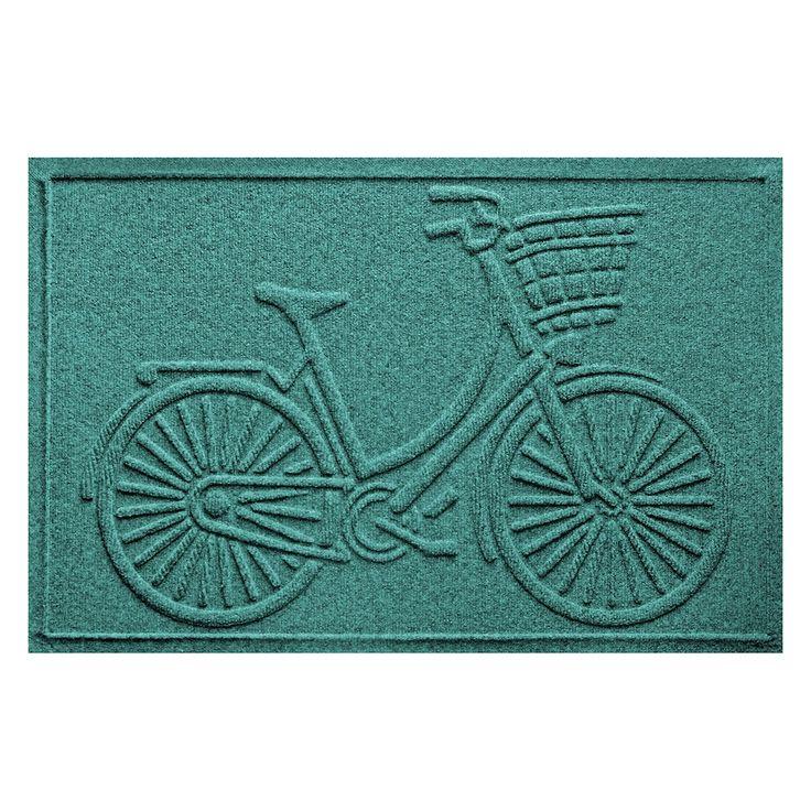 WaterGuard Nantucket Bicycle Indoor Outdoor Mat, Green