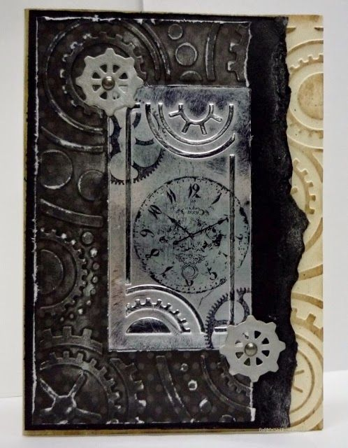 Cogs & Wheels-clock-BaRb-BaRb'n'ShEllcreations