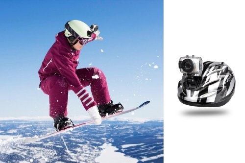 SPORT CAMERA - Blurfix(TM) High-Definition Sport Action Camera, 1080p 720p Wide-Angle Camcorder With 2.0 Touch Screen - SD Card Slot, USB Plug And Mic - All Mounting Gear Included - For Biking, Riding, Racing, Skiing And Water Sports, Etc.-RED COLOR from Blurfix $149.00