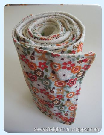 DIY reusable paper towel roll (snaps, terrycloth and flannel)