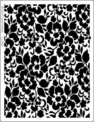 lace stencil for bunting idea