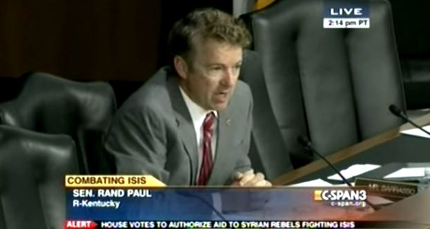Rand Paul slams John Kerry over how the government has dealt with ISIL/ISIS.