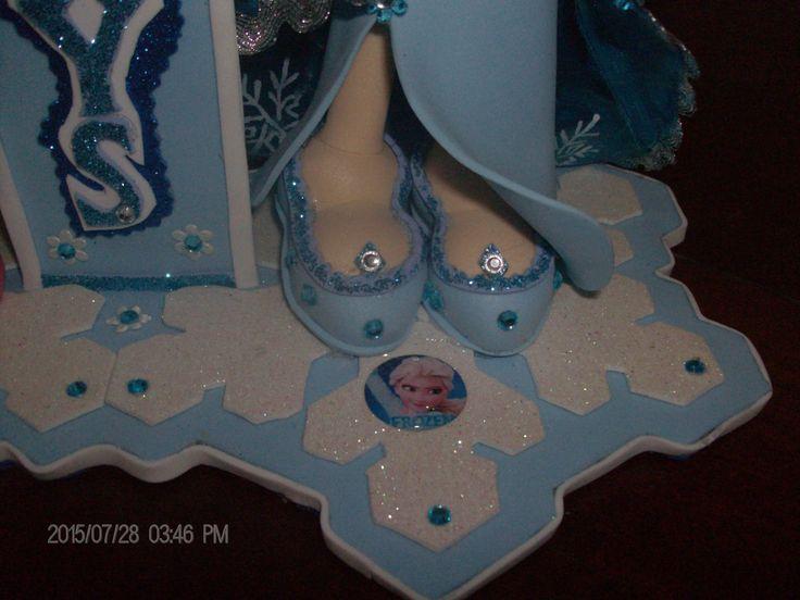 Detalle de los zapatos de la Fofucha Elsa de Frozen