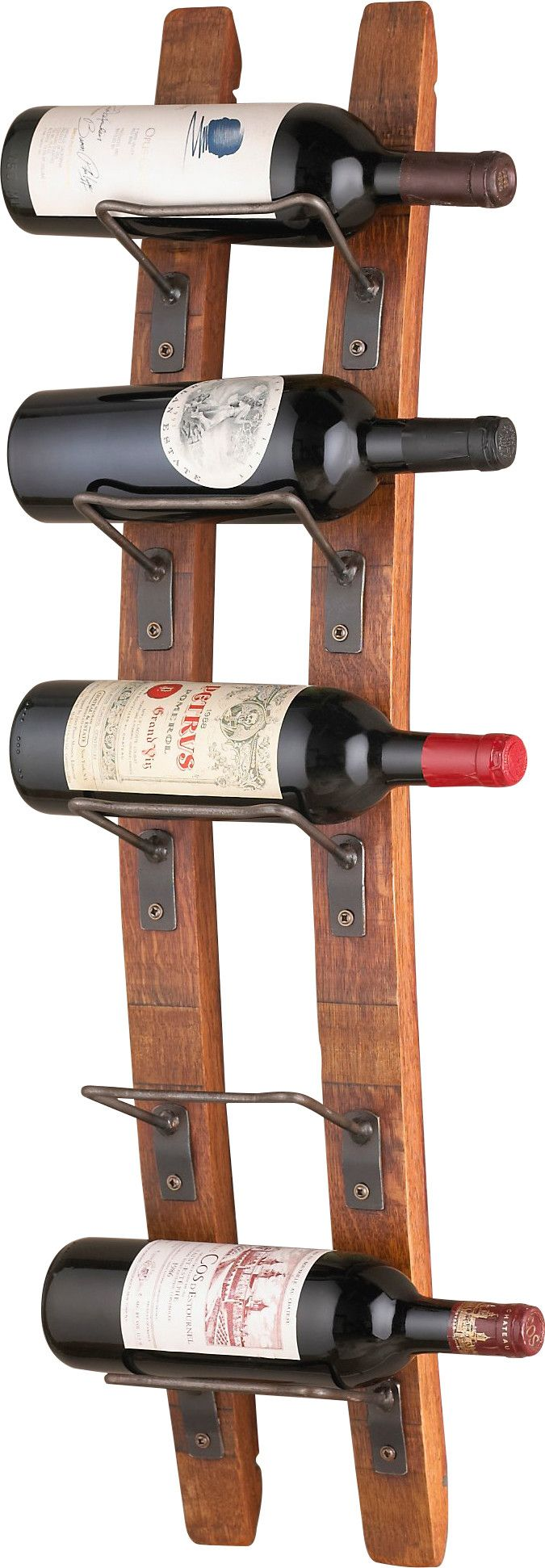 features blackburn collection each piece is made from reclaimed staves of varying wall wine rackswall mounted
