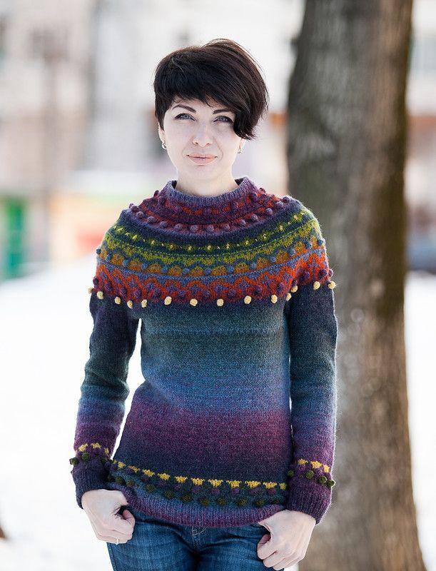 """""""Свитер в пупырку"""" или """"А мне все фиолетово"""" :): ru_knitting"""
