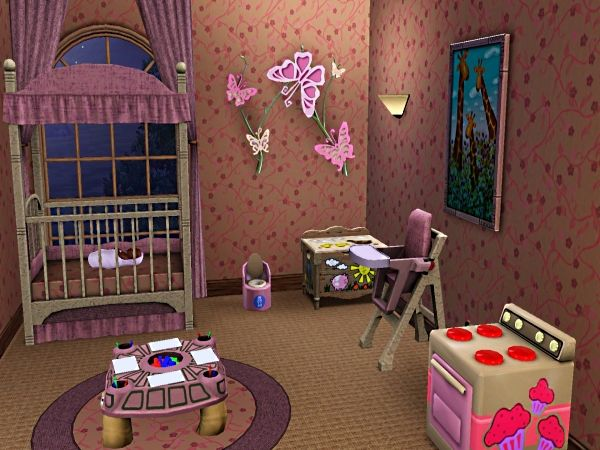 Baby Girl Room Sims 3 Sims Rooms Pinterest Babies
